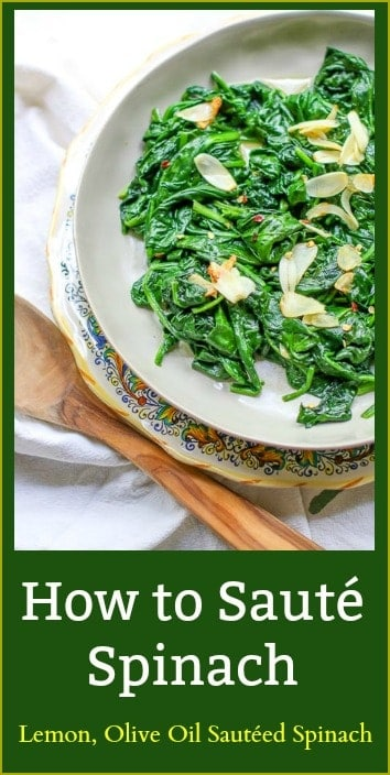 Properly sautéed spinach is incredibly flavorful and delicious. It is the perfect way to sneak in those healthy greens on your plate. In this post I will share tips on how to sauté spinach quickly on the stovetop.