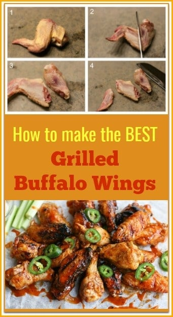 How to make grilled buffalo wings with homemade buffalo sauce. Plus step by step on how to cut a chicken wing.