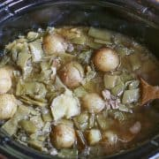 Crockpot Green Beans and Potatoes