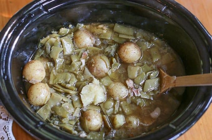 Crockpot Green Beans and Potatoes