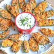 Cheeseburger Stuffed Jalapeno Poppers