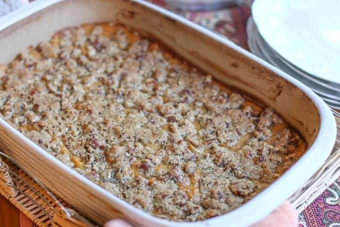 Southern Sweet Potato Casserole with Pecans