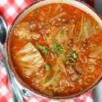 Instant Pot Stuffed Cabbage Soup-Easy and Delicious