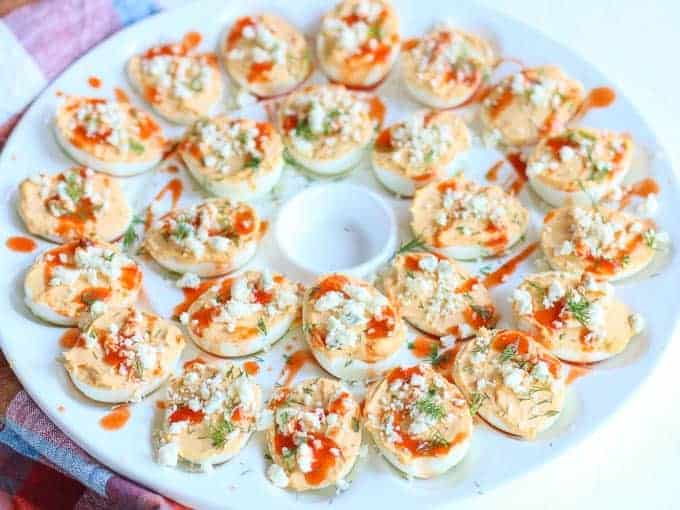 Buffalo Deviled Eggs Recipe with Blue Cheese