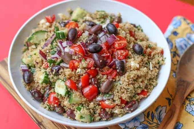 Mediterranean Quinoa Salad-Healthy Feta Quinoa Salad