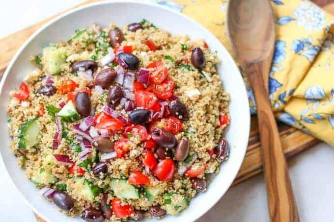 Mediterranean Quinoa Salad-Healthy Feta Quinoa Salad Recipe
