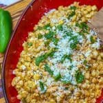 This bright and zesty Mexican corn salad is basically deconstructed Mexican street corn off the cob. It combines a flavorful combination of corn, cotija cheese, and a lime/mayonnaise dressing. You can serve it hot or cold. Make this salad to compliment your next Mexican meal.