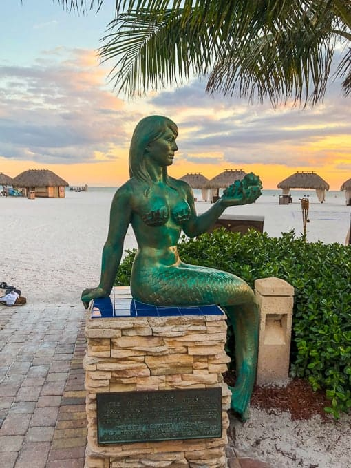 Mermaid Statue at Marco Island Marriott Beach Resort