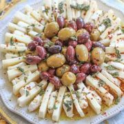 ring of cheese and olives
