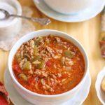 Instant Pot stuffed pepper soup