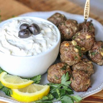 Greek Lamb Meatballs-Oven cooked meatballs
