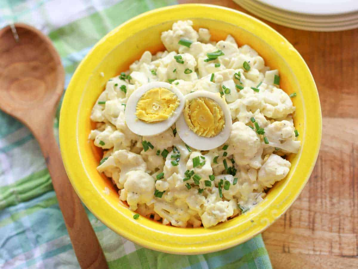 If you love potato salad, then you will love this Southern Cauliflower Potato Salad. It has all your favorite flavors as the traditional version with a little added crunch.