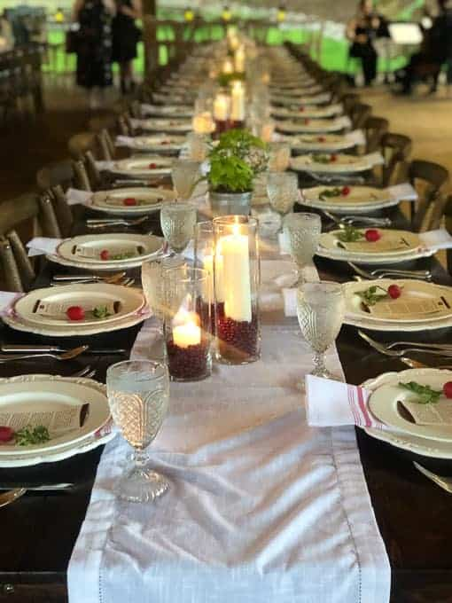 """Come to Our Table"" Table setting"