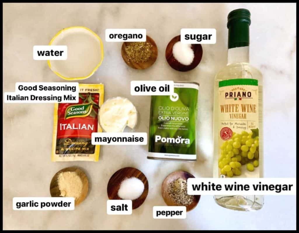 ingredients for copycat olive garden salad dressing