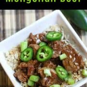 Do you love a spicy, easy, delicious, quick recipe? Then you will love this 20 minute Instant Pot Mongolian Beef recipe. Slice up the ingredients, throw them in the Instant Pot, and in 20 minutes or less, you will have a fantastic meal. #instantpotmongolianbeef #instantpotrecipe