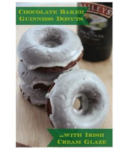 Chocolate Baked Guinness Donuts