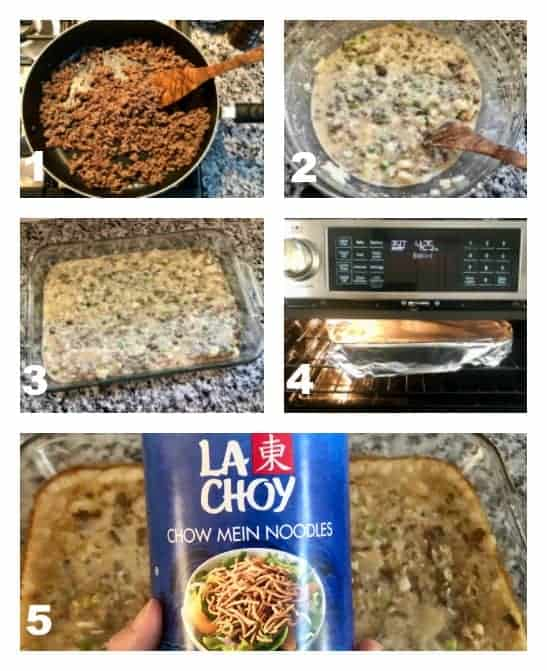 Step By Step how to make beef chow mein casserole