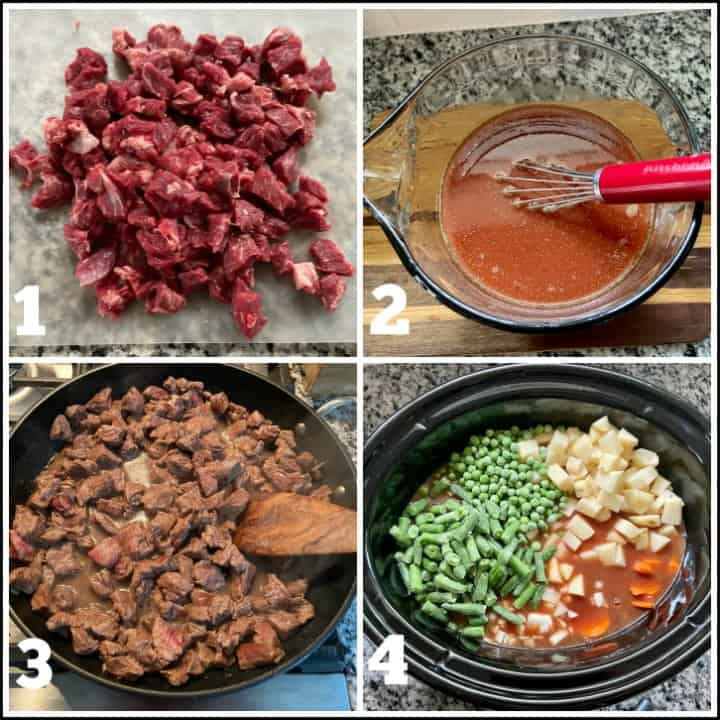 Step by Step how to make crockpot vegetable beef soup images