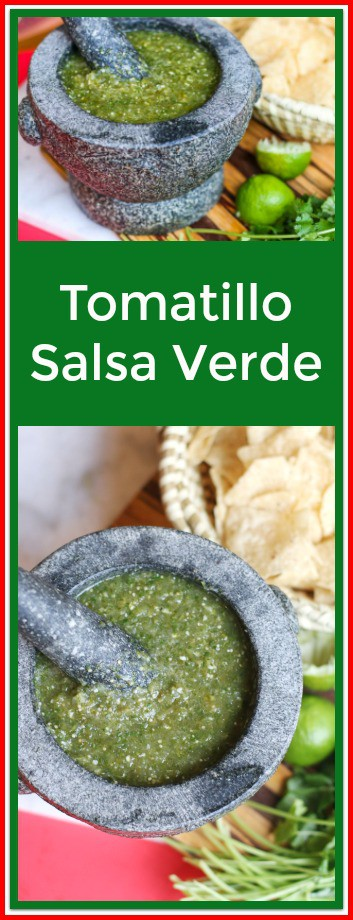 Tomatillo salsa verde is perfect for eating with crunchy tortilla chips or topping on your favorite Mexican foods. This flavorful green salsa is easy to make and you can find all of the ingredients at your local grocery store. Try making it today!