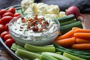 Creamy Bacon Horseradish Dip- 20 Delicious Christmas Party Appetizers