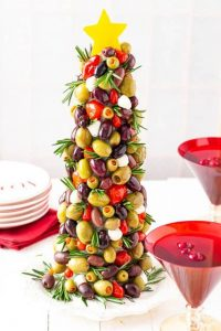 Olive Christmas Tree- 20 Christmas Appetizers