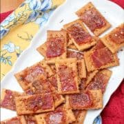 Bacon. Need I really say more? These crunchy sweet and salty candied bacon crackers are easy to make. This recipe will be the next go-to recipe for all of your parties.