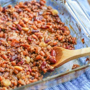 baked calico beans casserole