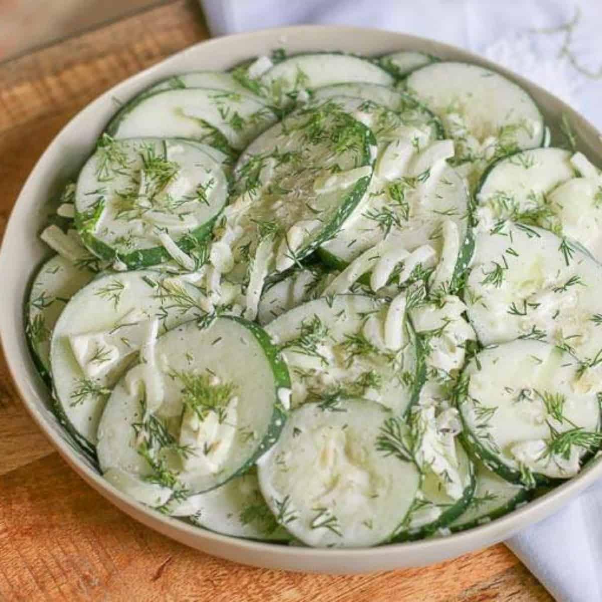 Cucumber Salad Recipe Vinegar Mayonnaise