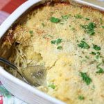 Chicken Spaghetti Casserole, also known as Chicken Tetrazzini