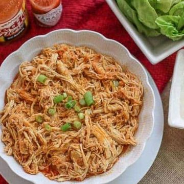 Instant Pot shredded buffalo chicken breast