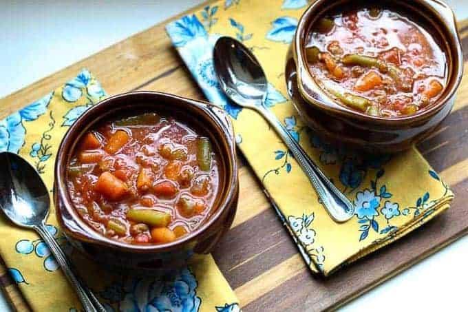 low carb Hamburger Soup Recipe