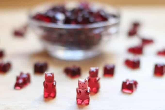 Homemade Gummy Bears recipe made with Welchs 100% Grape Juice