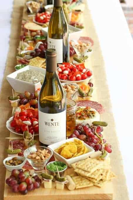 How to Make an a beautiful Antipasto Board Table Runner