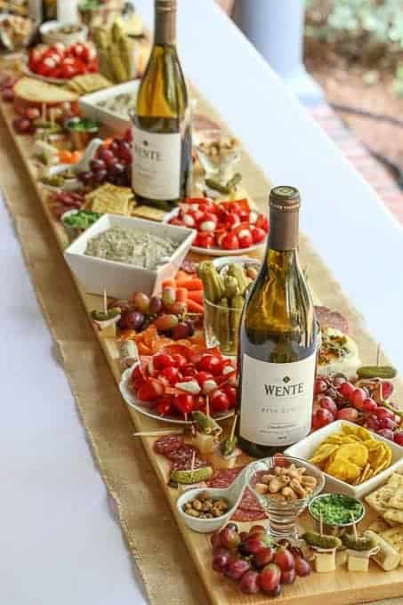 How to Make an a beautiful Antipasto Board Table Runner.