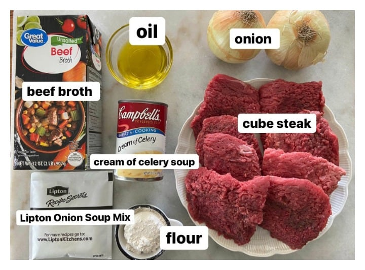 ingredients for instant pot country style cube steak