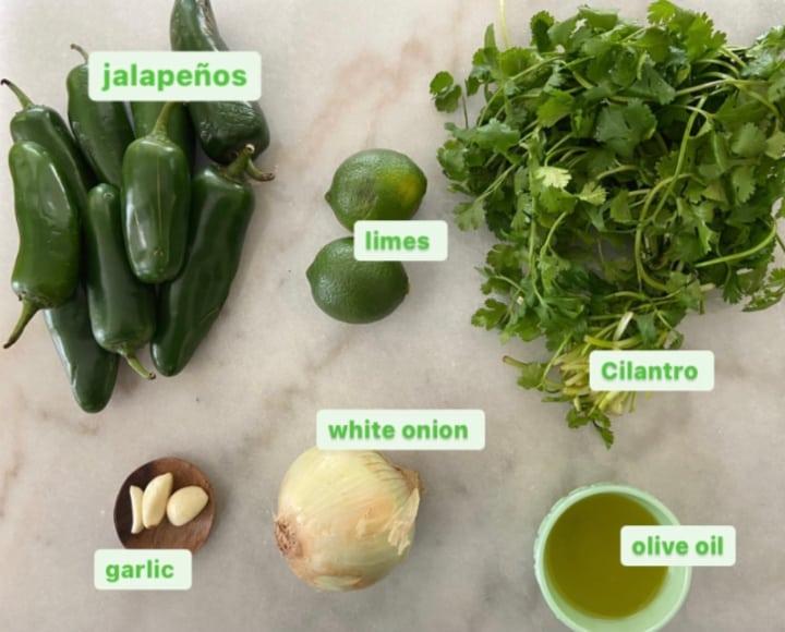 ingredients for jalapeno salsa