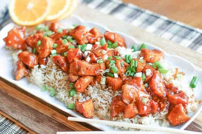 Orange Chicken Dish