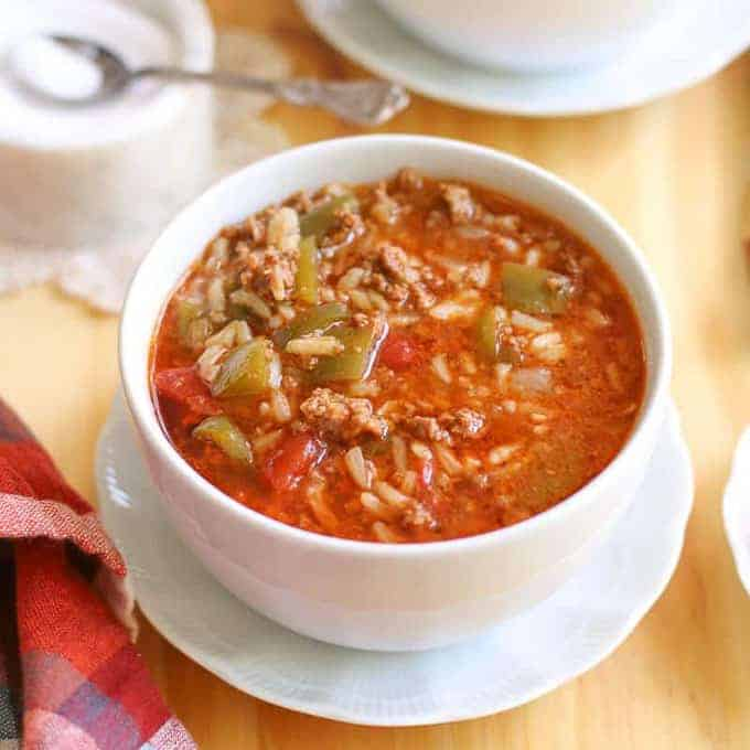Instant Pot Stuffed Pepper Soup Recipe