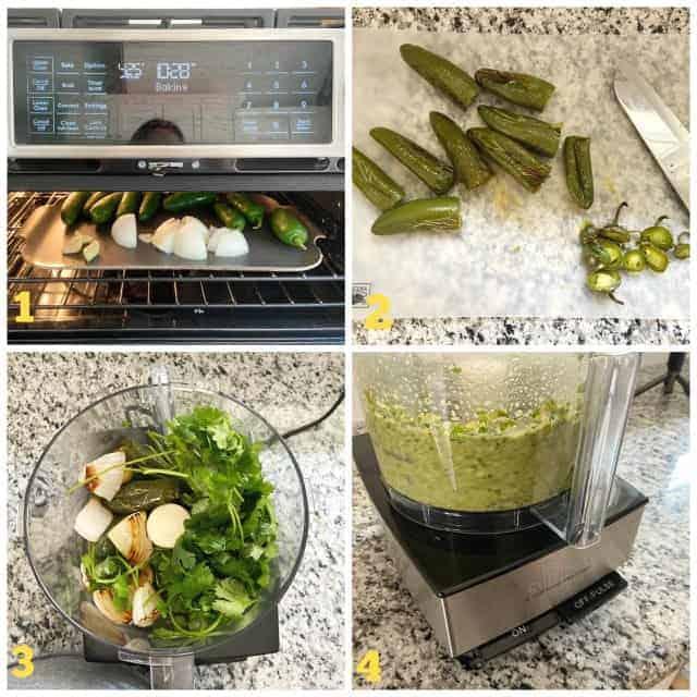jalapeno salsa process photos