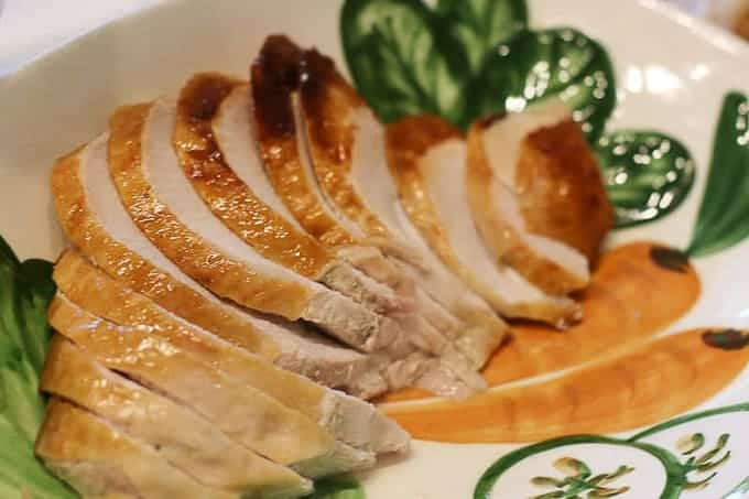 Sliced turkey on a plate
