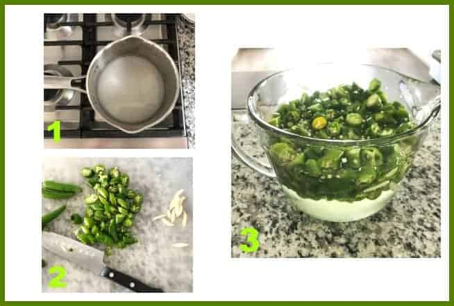 pickled hot pepper process shots
