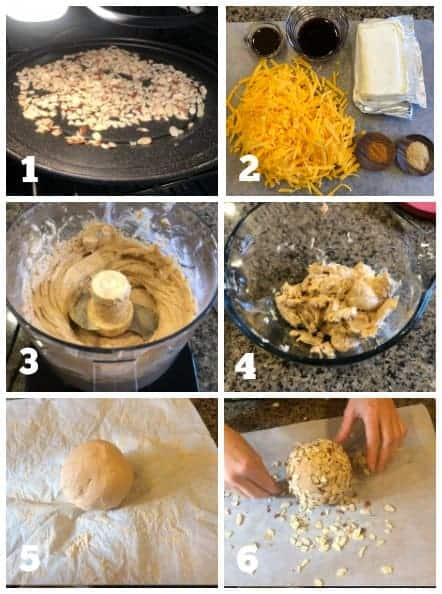 process images on how to make port wine cheese ball
