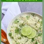 The sweetness coconut milk combined with bright flavors of zesty lime and cilantro transforms plain rice into delicious with this #ricecooker #coconutrice recipe.