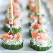Smoked Salmon Cream Cheese Cucumber Bites