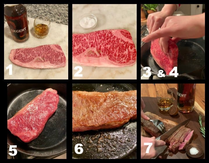 step by step how to cook Wagyu steak