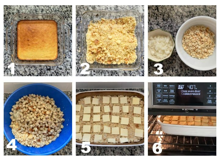 step by step how to make Southern Cornbread Dressing