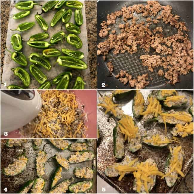 step by step how to make cheeseburger stuffed jalapeno poppers