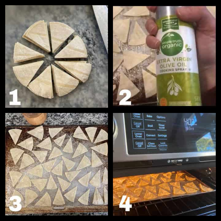 step by step how to make tortilla chips in oven