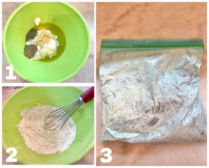 steps to make Greek marinated chicken