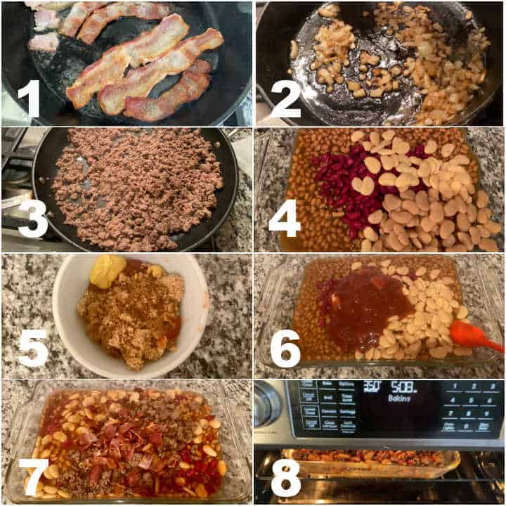 steps to make baked calico beans